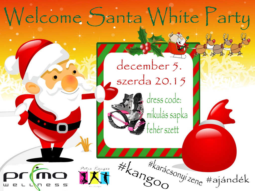 Welcome Santa White Party